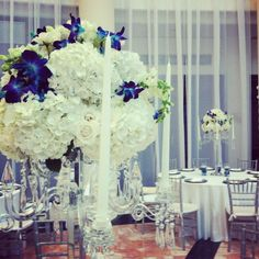Blue orchids make these pop - Agape Flowers and Events #wedding #planning #events #flower #floral #decor #design #ideas #ilovemyjob #miami #florida #southflorida