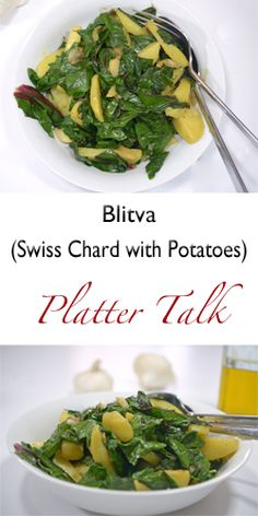 Blitva (Swiss Chard with Potatoes) - Platter Talk