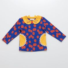 baby cheer ネコ衿長袖Tシャツ[80cm-100cm] | 2012年秋冬商品一覧 | babycheer | ミリカンパニーリミテッドオンラインショップ