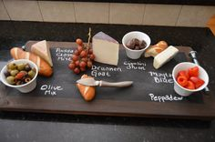 Wooden Chalkboard Cheeseboard/ Tray with Big Bolt by Artfulcastle