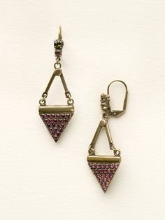 Crystal Triangle Drop Earring in Volcano by Sorrelli - $65.00 (http://www.sorrelli.com/products/ECW12AGVO)