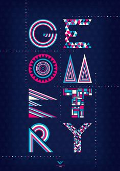 I really like how the shapes and colors make the letters pop and look really vibrant. I also like how the letters have different patterns but the same color theme, so the letters are unique but go together at the same time.