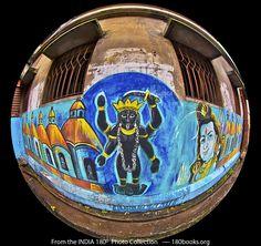 Image of a Mural of Goddess Kali and Lord Shiva in Kolkata / Culcatta, India
