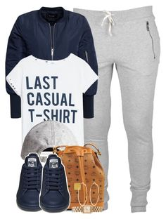 """Last casual t-shirt."" by cheerstostyle ❤ liked on Polyvore featuring VILA, MANGO, H&M, MCM, Marc by Marc Jacobs and River Island"
