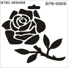 SPS-0006 Large Rose - TSC Stencil Designs