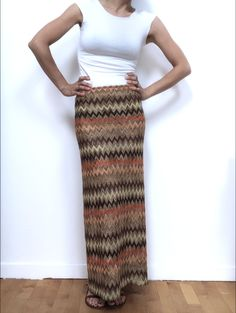 Striped long pencil skirt di Fedracollection su Etsy