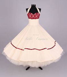 Brautkleider - Wunderschönes 50er Jahre Brautkleid Marie II - ein Designerstück von atelier-belle-couture bei DaWanda