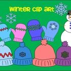 This set of Winter clip art has 24 PNG graphics for you to use in your classroom worksheets and in products for sale.    12 graphics are color.   1...
