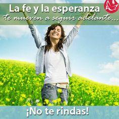 La fe y la esperanza #Confía #Fe #Esperanza #Dios #Animo #paz #Católico #MensajedelDía #quote
