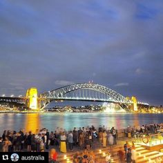 The Sydney harbour bridge never seizes to amaze us  #Repost @australia with @repostapp.  There's nothing like soaking up a balmy @sydney evening with a cold drink in hand and epic views of the #SydneyHarbourBridge. This shot was taken by @stephtee from @operabarsydney which claims to have 'the best beer garden in the world'... we're not biased but we'd have to agree it's right up there! They also offer 'yoga and breakfast' with a harbour view throughout the month of January which would be a…