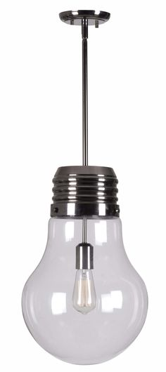 """I couldn't resist getting this!!!! How could I??? The Edison pendant – position it over a desk (and create the most elaborate """"a-ha!"""" selfies of all time), A new wave lighting design for an old school light bulb, this pop-art inspired pendant is the perfect addition to any whimsical environment."""