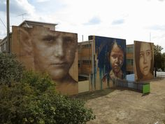 L to R: Guido van Helten, Adnate, RONE for Wall To Wall