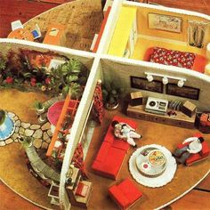 CRAFT PATTERN INSTRUCTIONS Modern Dolls House and Furniture Toy Vintage
