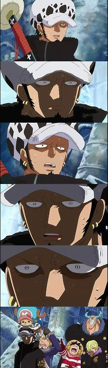 Law's reactions XD Meet the crazy Straw Hat crew!! #Anime #OnePiece