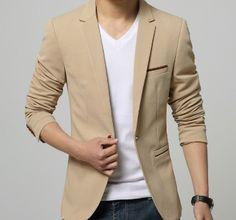 Mens Single Button Blazer with Pocket Details