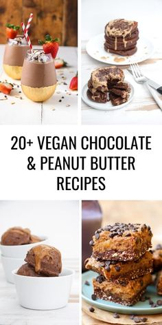 Peanut Butter and Chocolate is one of those magical combinations, if you agree, you'll love these 20  Vegan Peanut Butter and Chocolate Recipes! | ElephantasticVegan.com #chocolate #peanutbutter #vegan Vegan Dessert Recipes, Delicious Vegan Recipes, Vegan Sweets, Dairy Free Recipes, Desert Recipes, Raw Food Recipes, Vegan Food, Easy Recipes, Healthy Recipes