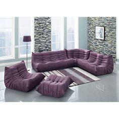 Interesting modern purple living room sofa furniture set