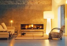 Fireplace by Focus, a French company founded in the 60s by Dominique Imbert.