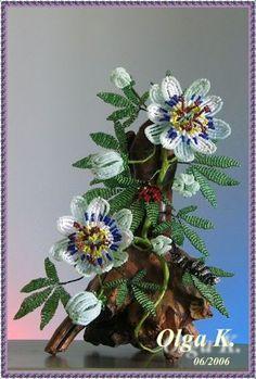 Цветы - beaded flowers - Olga Kushelev - Picasa Web Album: