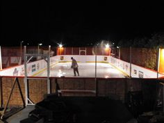 perhaps Canada's best backyard ice hockey rink!