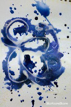 salt glue painting