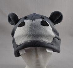 Felt hippo hat and then i ll put ear flaps on the side. 054b99da785d