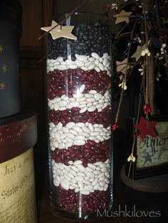 Red, White, & Blue - possible centerpieces
