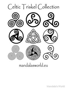 Celtic Triskell Collection Dark par Mandala's World