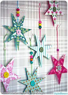 pyssel,papperspyssel,stjärnor,papper,papperstjärnor