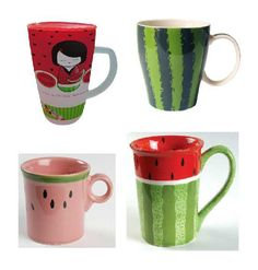 Watermelon Mug, different one for each person.