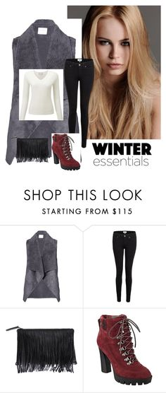 """Baby it's Cold Outside"" by vintagefringe ❤ liked on Polyvore featuring KAROLINA, Velvet by Graham & Spencer, Paige Denim, Nine West, women's clothing, women, female, woman, misses and juniors"