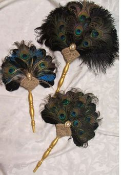Peacock feather fans!