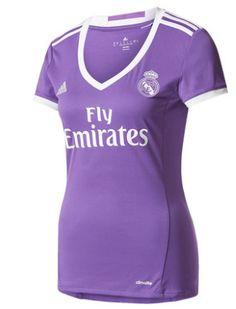 Equipacion Camiseta Real Madrid Segunda Mujer 2016-2017
