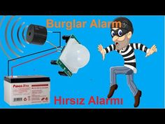 PIR Burglar Alarm Circuit - without using arduino - PIR Motion Detector Electronic Circuit Projects, Electronics Projects, Computer Technology, Science And Technology, Battery Charger Circuit, Motion Detector, Voltage Regulator, Arduino, Revolver