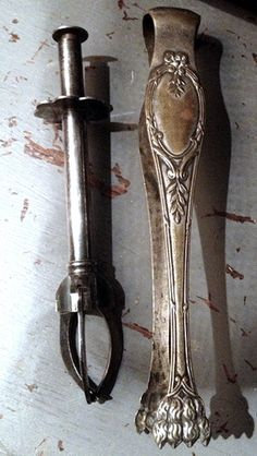 Pair of French Silver Pinces