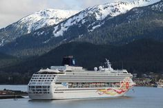 Norwegian Sun and the mountains of Juneau