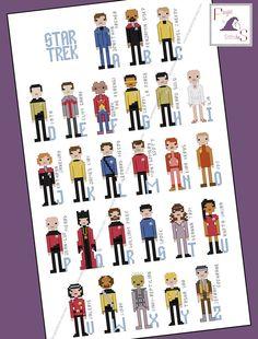 Star Trek Parody Alphabet Cross Stitch  PDF by FangirlStitches