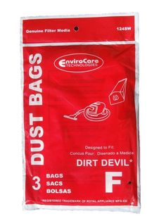 Royal Dirt Devil Canister Type F Allergy Vacuum Bags, Can Vac, Power Pak Vacuum Cleaners