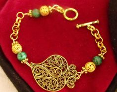 Coeur de Viana en filigrane bronze perles par HelenaAleixoGlamour