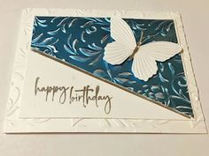 Paper Butterflies, Butterfly, Happy Birthday, Stamping, Frame, Decor, Happy Brithday, Picture Frame, Decoration