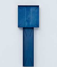 Another of Paweski's painted plywood sculptures. You can also find Paweski's work at Studio Spruzzi, a studio he recently launched with his partner Gillian Garcia producing multifunctional lighting.   Shown here, Stacked Plaques (Navy), 2014; birch plywood, beech hardwood, steel, copper rivets, enamel, and wax. Image courtesy of the artist and Herald St, London.