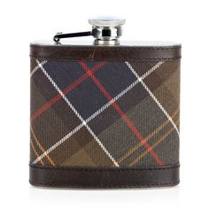 Tartan flask by Barbour