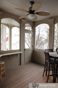 Screened in Cedar Porch with large Timbers