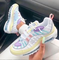 Nike Air Max 98 Sneakers from charmvip. Shop more products from charmvip on Wanelo. Source by erincrowleyy sneakers Cute Sneakers, Sneakers Nike, Nike Trainers, Cool Trainers, Chunky Sneakers, Air Max Sneakers, Souliers Nike, Nike Air Shoes, Cool Nike Shoes