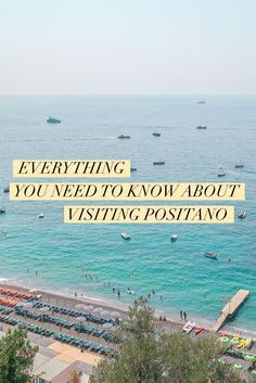 Everything you need to know to plan your Positano visit