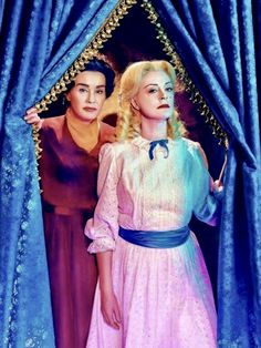 Jessica Lange as Joan Crawford and Susan Sarandon as Bette Davis in their Whatever Happened to Baby Jane? gear for Feud: Bette and Joan.