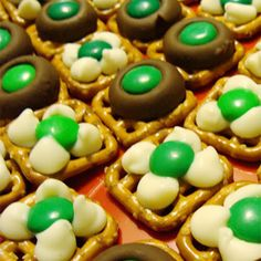 Lucky Irish Kisses.  So easy to make for the kids at school!