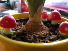 MiniMushrooms Garden Decor by JourneyToAFantasy on Etsy