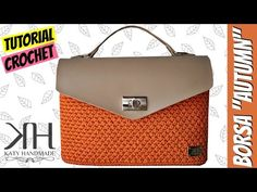 "Tutorial uncinetto borsa ""Autumn"" | Punto foglia | How to make a crochet... | Katy Handmade"