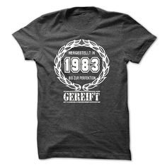 (Tshirt Suggest Sell) Hergestellt in 1983  Bis zur Perfektion Gereift  Shirts this week  Hergestellt in 1983  Bis zur Perfektion Gereift Mnner und Frauen T-Shirts. In USA gedruckt und versandt Wir liefern weltweit. Garantierte sichere Zahlung mit PayPal / VISA / MASTERCARD.  Tshirt Guys Lady Hodie  SHARE and Get Discount Today Order now before we SELL OUT Today  #tshirt #pinteres #Tshirtamerican #Tshirtjob #Tshirtnam